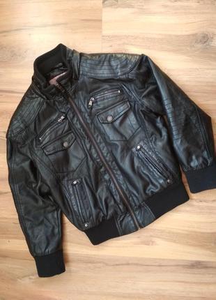 Кожаная куртка barneys