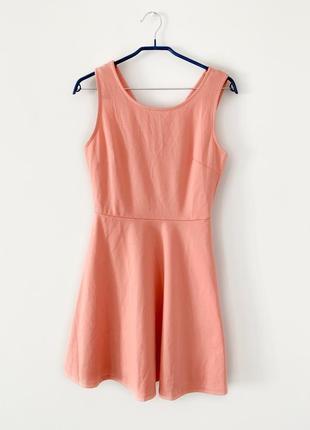 Платье fb sister, сарафан, платье майка, летнее платье, персиковое платье