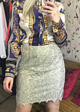 Кружевная юбка, юбка в пайетках , красивая юбка