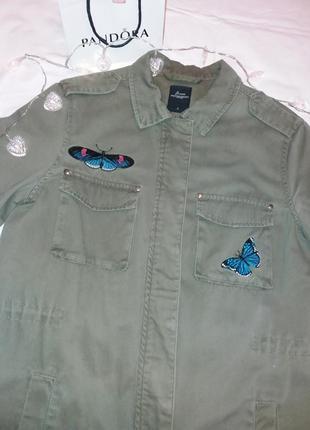 Джинсовка короткая парка рубашка джинсовая куртка