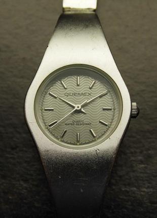 Quemex стальные ретро часы из сша волнистый циферблат мех. japan tmi