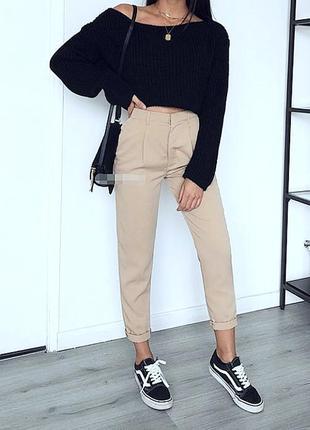 Идеальные нюдовые базовые брюки zara