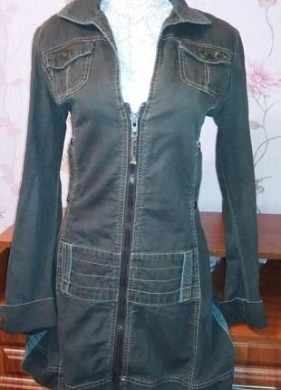Джинсовый френч удлиненный пиджак only