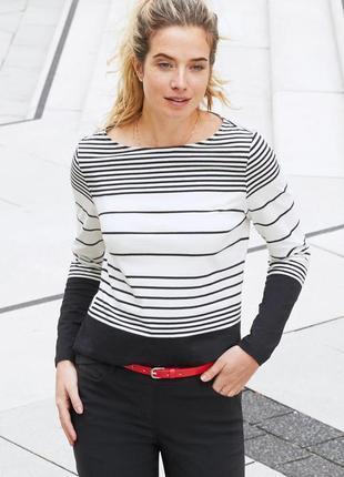 Модные тенденции весна-лето - принт полоска - отличная джерси кофточка - tchibo, германия