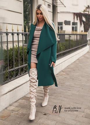 Идеальное пальто бутылочного цвета