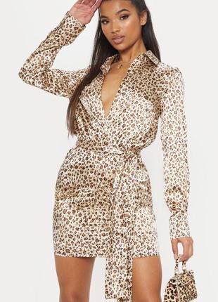 Трендовое леопардовое платье с поясом