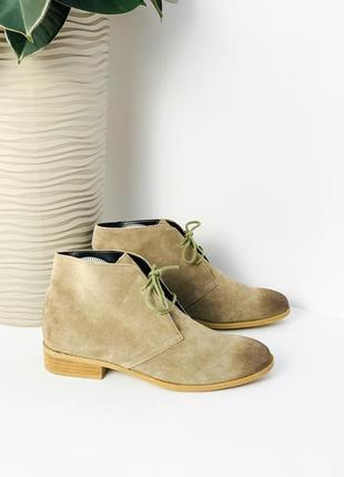 Замшеві черевички ботинки dolce vita