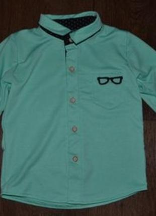 Рубашка мальчику сост нов 2-4г