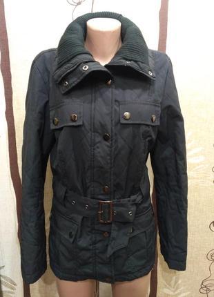 Yessica. чёрная демисезонная стёганая куртка