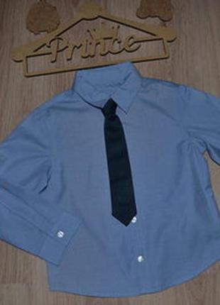 Новая рубашка сток matalan 3-4г с галстуком на липучке