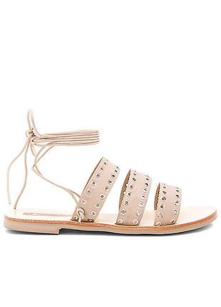Sol sana оригинал бежевые кожаные сандалии на шнуровке с люверсами бренд из сша