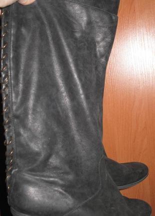 Чорні чоботи шкіра topshop р41