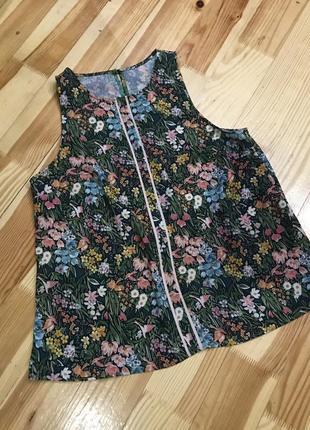 Шифонова блуза у квіти