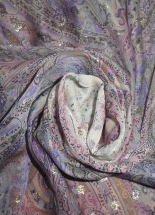 Нежный изящный воздушный шелковый шарф шаль jean baptiste caumont 88х86см