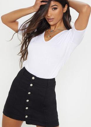 Стильная вельветовая мини юбка