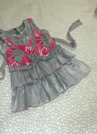 Интересное платье 2-3 года