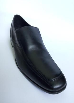 43 черные мужские туфли bostonian clarks лоферы кожаная подошва