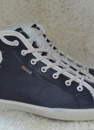 Ecco 39р кожаные ботинки сникерсы кроссовки