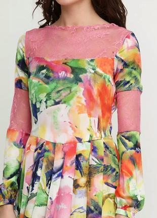 Новое летнее шелковое платье sassofono  на выпускной сассофоно
