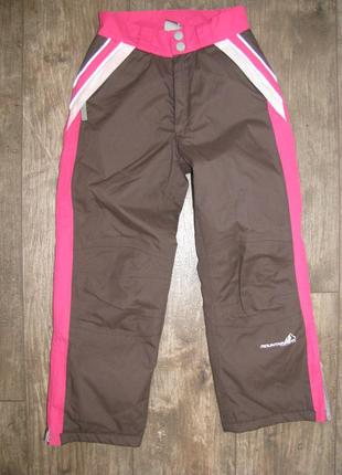 Штаны лыжные  р122-128 см 7-8 лет mountain peak  мембранные термоштаны телые зимние