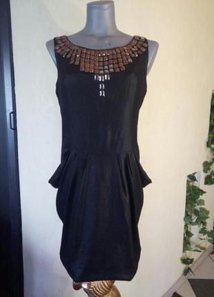 Платье из переливающейся легкой ткани,имитирующей кожу