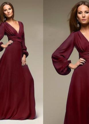 Шифоновое нарядное платье2 фото