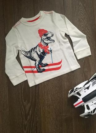 По-настоящему крутой термик, термо лонгслив с динозавром1 фото