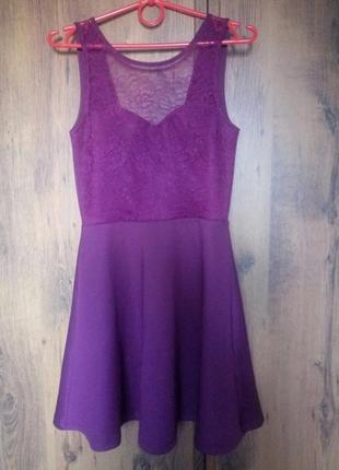 Винное платье h&m