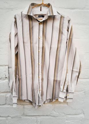 Белая рубашка в полоску от mexx, размер s/m