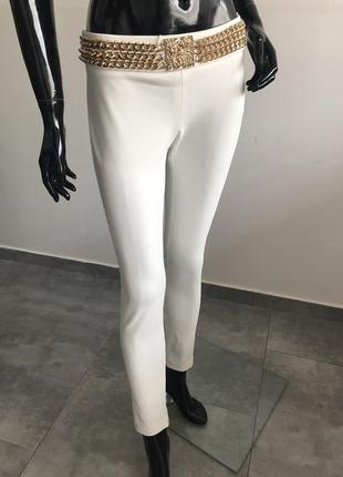Брюки elisabetta franchi белые женские xs-s 42