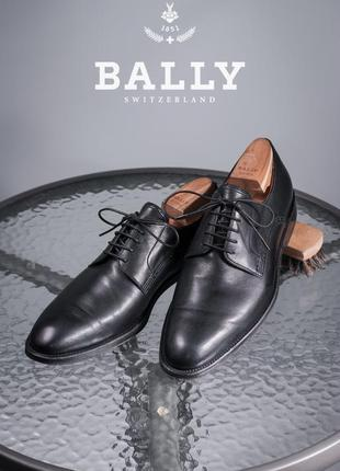 Дерби люкс класса bally, швейцария 42,5-43 мужские туфли кожаные