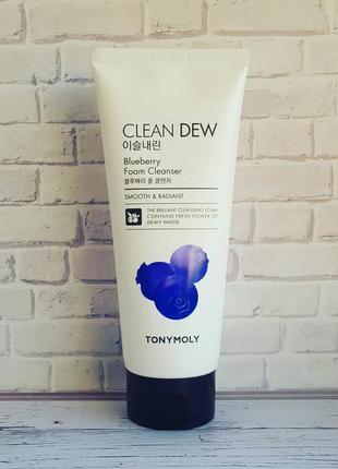 Пенка для умывания с экстрактом черники tony moly clean dew foam cleanser blueberry 🍆