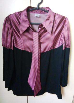 Блузка с галстуком бантом