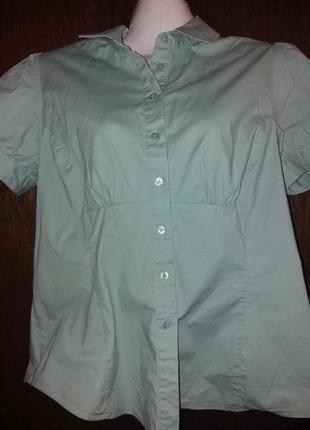 Мятная блузка-бренд-f&f-14р--котон