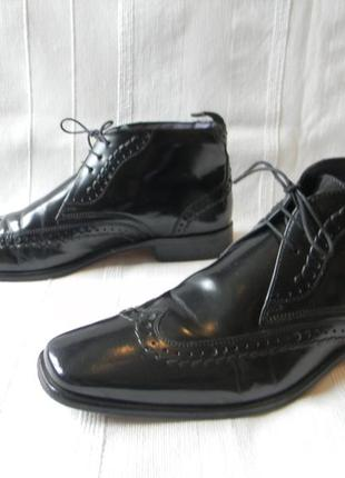 Кожаные ботинки классика marks & spencer autograph р.10