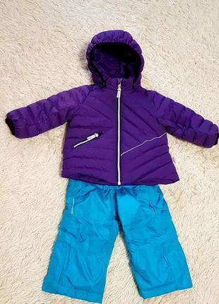 Зимний комплект куртка пуховая reima и полукомбинезон impidimpi