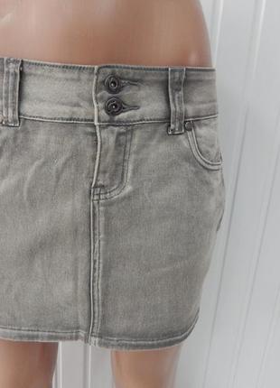 Джинсовая серая юбка castro