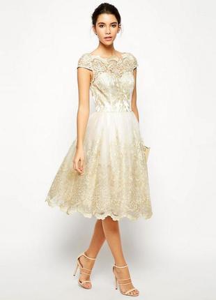 Chi chi london шикарное вечернее выпускное нарядное платье, р.14, наш 48-й