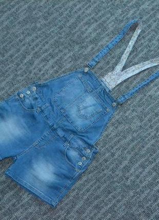 Комбинезон джинсовый шорты
