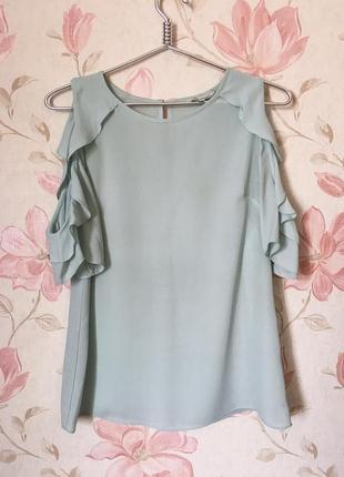 Трендовая блуза мятного цвета