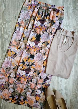 Летняя юбка макси в цветочный принт atmosphere размер 14