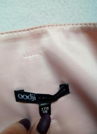Красивая атласная юбка с лентой и кружевом4 фото