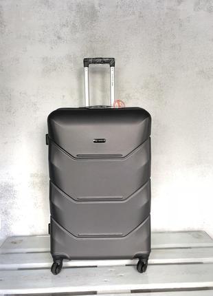 Качество! польша 100% оригинал! пластиковый чемодан великий валіза велика пластикова
