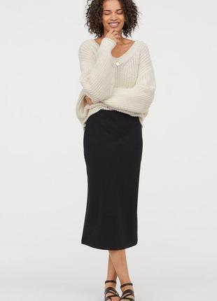 H&m юбка из рельефного трикотажа , м