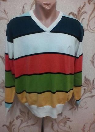 Полувер м,свитер,разноцветный.