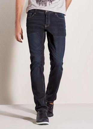Темно синие джинсы слим фит