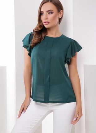 Новая женская блуза невероятного изумрудного цвета