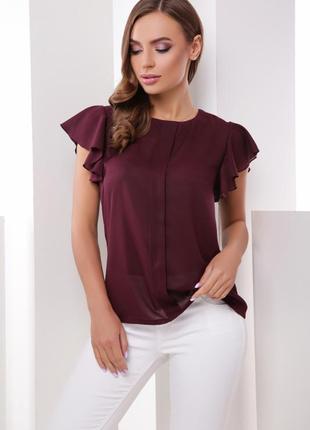 Новая стильная блуза в модном цвете марсала