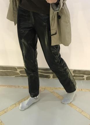 Кожаные брюки штаны