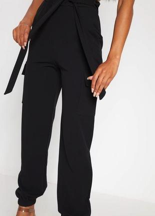 Идеальные брюки штаны карго джоггеры с карманами на резинке с завязками xs 6 pretty